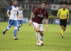 August 3, 2017 - Milan, Italy - Andre Silva during the preliminaries of Europa League 2017/2018 match between Milan v Craiova, in Milan, on august 3, 2017  (Credit Image: © Loris Roselli/NurPhoto via ZUMA Press)