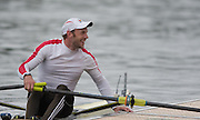 Lucerne, SWITZERLAND<br /> <br /> BEL M1X.  Hannes OBRENO. smilinf at his supporters after winng the his Semi Final A/B at the 2016 European Olympic Qualifying Regatta, Lake Rotsee.<br /> <br /> Monday  23/05/2016<br /> <br /> [Mandatory Credit; Peter SPURRIER/Intersport-images]