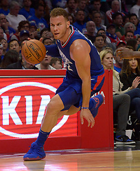October 21, 2017 - Los Angeles, California, U.S. - Los Angeles Clippers forward Blake Griffin against the Phoenix Suns in the second half during an NBA basketball game at the Staples Center on Saturday, Oct 21, 2017 in Los Angeles. .(Photo by Keith Birmingham, Pasadena Star-News/SCNG) (Credit Image: © San Gabriel Valley Tribune via ZUMA Wire)