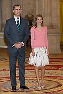 071714 Spanish Royals Receive 'Becas Europa' Participants of Francisco de Vitoria University
