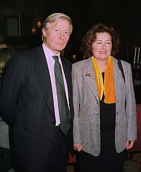 SIR BERNARD & LADY DE HOGHTON BT at a reception in London on 13th October 1997.MCA 44