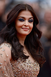 File photo dated May 13, 2016 of Aishwarya Rai attending the Ma Loute screeningat the Palais Des Festivals in Cannes, France as part of the 69th Cannes Film Festival. Aishwarya Rai Bachchan has been taken to hospital after testing positive for Covid-19 earlier this week. The Indian actress, a former Miss World and one of Bollywood's most famous faces, is being treated at Mumbai's Nanavati Hospital, it was reported. her daughter Aaradhya has also been taken to hospital. Photo by Lionel Hahn/ABACAPRESS.COM