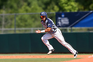 02 June 2016: Nova Southeastern's Jancarlos Cintron-Torres. The Nova Southeastern University Sharks played the Cal Poly Pomona Broncos in Game 11 of the 2016 NCAA Division II College World Series  at Coleman Field at the USA Baseball National Training Complex in Cary, North Carolina. Nova Southeastern won the semifinal game 4-1 and advanced to the championship series.