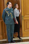 021517 Queen Letizia attends audiences at Zarzuela Palace