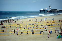 02-06-2012 VOLLEYBAL: EK BEACHVOLLEYBAL: SCHEVENINGEN<br /> Volleybalvelden, court op het strand van Scheveningen<br /> ©2012-FotoHoogendoorn.nl