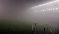 Photo: Paul Thomas.<br /> Liverpool v Arsenal. Carling Cup. 19/12/2006.<br /> <br /> The fog takes over the pitch before the game and it's not sure if the game can be played.