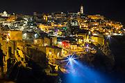 Night view of Sassi di Matera