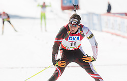PINTER Friedrich of Austria in finish arrea during Men 12.5 km Pursuit competition of the e.on IBU Biathlon World Cup on Saturday, March 8, 2014 in Pokljuka, Slovenia. Photo by Vid Ponikvar / Sportida