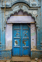 NEW DELHI, INDIA - CIRCA OCTOBER 2016: Old door in Delhi.