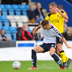 TELFORD COPYRIGHT MIKE SHERIDAN 13/10/2018 - John McAtee of AFC Telford battles for the ball during the Vanarama National League North fixture between AFC Telford United and Chorley