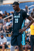 THOUSAND OAKS, CA Sunday, August 12, 2018 - Nike Basketball Academy. Patrick Williams 2019 #20 of West Charlotte HS rests. <br /> NOTE TO USER: Mandatory Copyright Notice: Photo by John Lopez / Nike