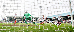 Dundee's Craig Beattie misses a shot.<br /> Dundee 0 v 1 Falkirk, Scottish Championship game played today at Dundee's Dens Park.<br /> © Michael Schofield.