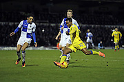 AFC Wimbledon striker Dominic Poleon (10) in action shoots at goal during the EFL Sky Bet League 1 match between Bristol Rovers and AFC Wimbledon at the Memorial Stadium, Bristol, England on 31 December 2016. Photo by Stuart Butcher.