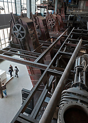 Interior of former coal mine  at Zollverein in Essen Germany now UNESCO World Heritage Site