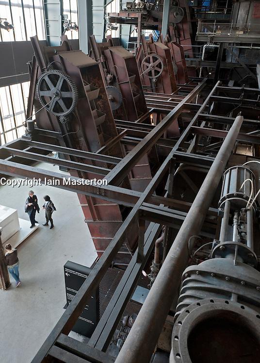 Interior of former coal mine  at Zollverein in Essen Germany now UNESCO World Heritage Site