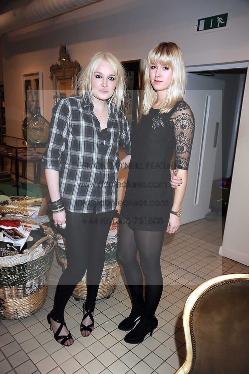 Left to right, OCTAVIA BRADFORD and ROSIE BROAD at a party to celebrate the 2nd issue of Distill Magazine held at The Shop at Bluebrid, Kings Road, London on 1st December 2008.