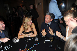 MELISSA ODABASH and PATRICK COX at a party to celebrate the launch of Hollywood Domino - a brand new board game, held at Mosimann's 11b West Halkin Street, London on 7th November 2008.  The evening was in aid of Charlize Theron's Africa Outreach Project.