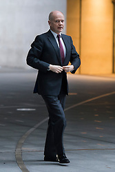 © London News Pictures. 26/01/2014. London, UK.  British Foreign Secretary WILLIAM HAGUE arriving at BBC Broadcasting House in London before appearing on the The Andrew Marr show on BBC One. Photo credit: Ben Cawthra/LNP