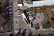Nederland, Limburg, Maastricht, 07-03-2010; hamburger restaurant McDonald's met McDrive.luchtfoto (toeslag), aerial photo (additional fee required);.foto/photo Siebe Swart