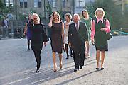 Crown Princess Mary of Denmark;  HE AMBASSADOR BIRGER RIIS-JORGENSEN, Per Kirkeby Opening Reception and Dinner. Tate Modern. 16 June 2009.