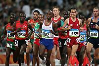 Friidrett Olympiske Leker / OL / 2008 20.08.2008 <br /> 5000 m : Ian Dobson , (3160) USA , Jesus Espana (1589) , ESP , Mohamed Farah (1802) GBR , Ndiema Moses Kipsiro (3054) UGA