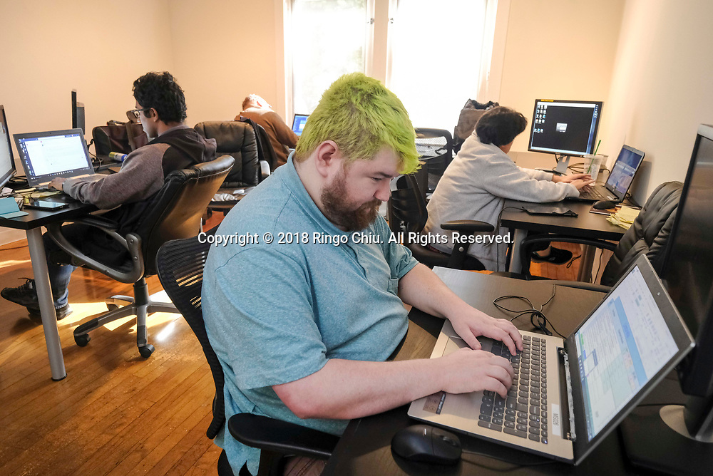 Max Gadson, software analyst of Auticon US .(Photo by Ringo Chiu)<br /> <br /> Usage Notes: This content is intended for editorial use only. For other uses, additional clearances may be required.