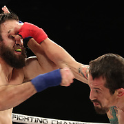 FORT LAUDERDALE, FL - FEBRUARY 15: Francesco Ricchi (L) and Fred Pierce exchange blows during the Bare Knuckle Fighting Championships at Greater Fort Lauderdale Convention Center on February 15, 2020 in Fort Lauderdale, Florida. (Photo by Alex Menendez/Getty Images) *** Local Caption *** Francesco Ricchi; Fred Pierce