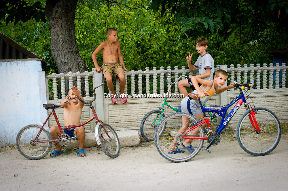 Old Orhei Moldova, is the place where our ancestors lived, and where you can visit underground monastry caves, or just see these village boys with bikes