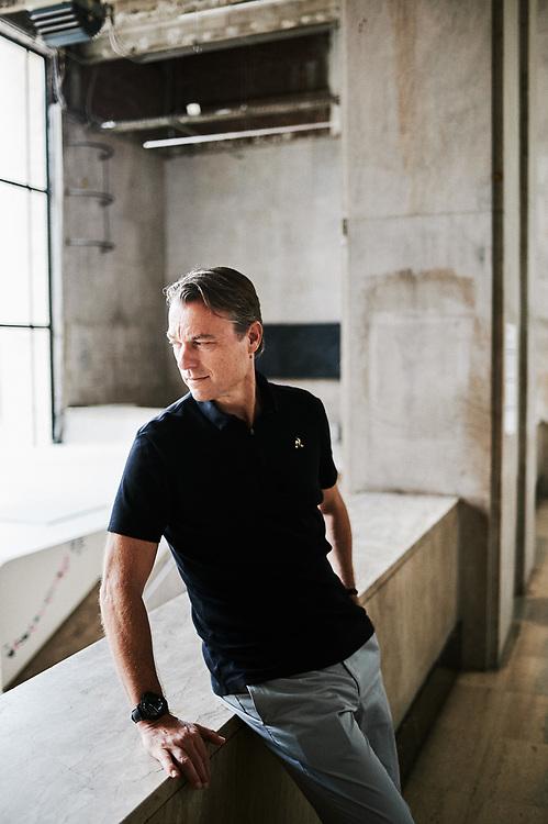 Laurens Van Den Acker, Chief Designer at Groupe Renault, visiting the Palais de Tokyo. Paris, France. July 27, 2019.