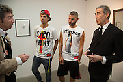 DUGGIE FIELDS; JORDAN BOWEN; LUCA MARCHETTO; DAVID CROLAND, Fashion Show: Robert Mapplethorpe. Alison Jacques Gallery. Berners St. London. 10 September 2013