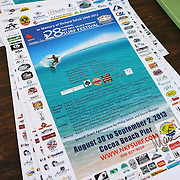 A poster for the 28th annual National Kidney Foundation, Rich Salick Pro/Am surf festival is seen in a booth at the the Cocoa Beach pier on Saturday,  September 2, 2013 in Cocoa Beach, Florida. This event raises thousands of dollars for people with kidney disease and also benefits the services of the NKF of Florida. (AP Photo/Alex Menendez)