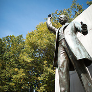 Statue of America's 26th president at the Theodore Roosevelt Memorial in Arlington, Virginia, just across the Potomac from Georgetown.