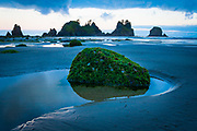Point of the Arches is located on Shi-Shi Beach in Washington state's Olympic National Park