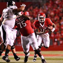 Sep 19, 2009; Piscataway, NJ, USA; Rutgers quarterback Jabu Lovelace (15) scrambles during the second half of Rutgers' 23-15 victory over Florida International at Rutgers Stadium.