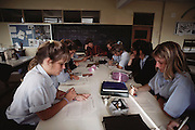 Students studying at a private high school in Buenos Aires, Argentina.