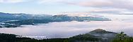 66745-04610 Sunrise and fog on Foothills Parkway Great Smoky Mountains National Park TN