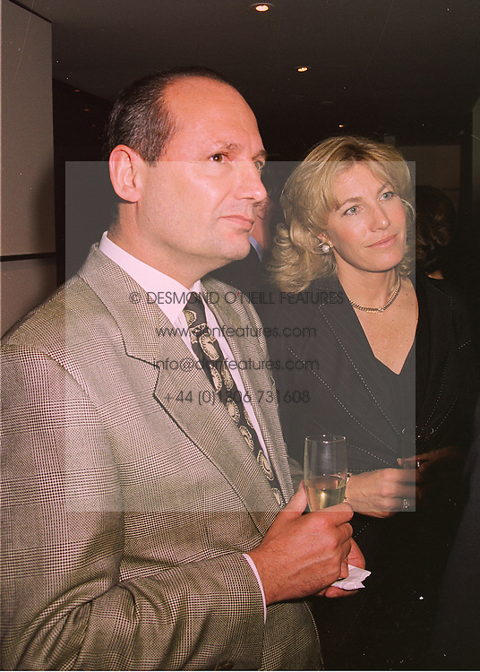 MR & MRS RON DENNIS he is the motor racing supremo, at a party in London on 21st April 1998.MGU 67