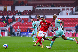 Anthony Knockaert of Nottingham Forest pings a cross to the left - Mandatory by-line: Nick Browning/JMP - 29/11/2020 - FOOTBALL - The City Ground - Nottingham, England - Nottingham Forest v Swansea City - Sky Bet Championship