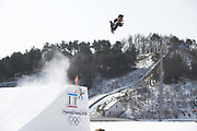 Sebastien Toutant, Canada, during the mens snowboard big air qualification at the Pyeongchang 2018 Winter Olympics on February 21st 2018, at the Alpensia Ski Jumping Centre in Pyeongchang-gun, South Korea