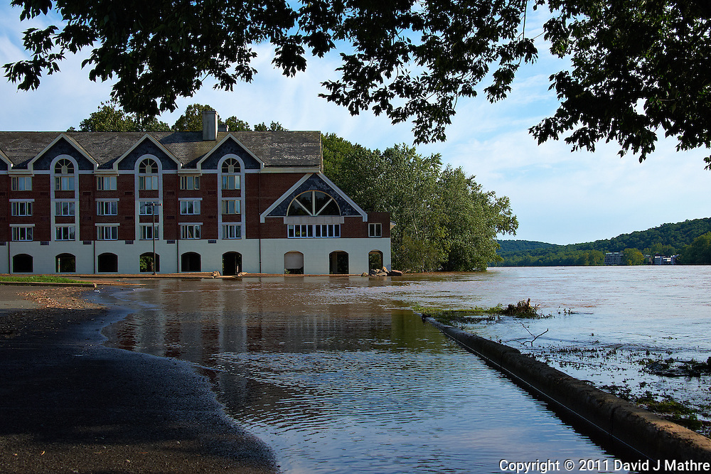 Lambertville Inn. Delaware River at Near Flood Stage after Hurricane Irene. Image taken with a Nikon D700 and 28-300 mm VR lens (ISO 200, 42 mm, f/8, 1/640 sec). Raw image processed with Capture One Pro 6, Nik Define 2, and Photoshop CS5.