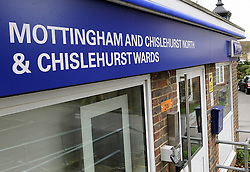 © Licensed to London News Pictures. 19/11/2012. Chislehurst, UK. General view of Mottingham and Chislehurst North community support office. An entire safer neighbourhood team from the Mottingham and Chislehurst Metropolitan police team has been sacked after an internal investigation found some of the officers had been playing backgammon and poker, watching television and cleaning golf clubs while on duty. The disciplinary action followed an undercover operation by the Metropolitan Police Service's (MPS) Directorate of Professional Standards in 2010. Photo credit : Grant Falvey/LNP