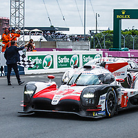 #7,  Toyota Gazoo Racing, Toyota TS050 Hybrid,LMP1H, driven by: Mike Conway, Kamui Kobayashi, Jose Maria Lopez,  on 17/06/2018 at the 24H of Le Mans, 2018