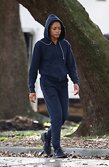 """Naomie Harris does some jogging on set photos of her new movie """"Black and Blue"""" - 23 Jan 2019"""
