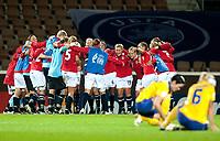 Fotball<br /> Semifinale EM kvinner 2009<br /> 04.09.2009<br /> Sverige v Norge<br /> Foto: Jussi Eskola/Digitalsport<br /> NORWAY ONLY<br /> <br /> Norge jubler