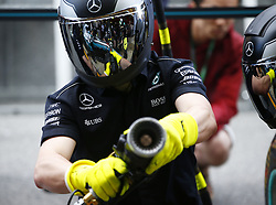 May 11, 2017 - Barcelona, Spain - Motorsports: FIA Formula One World Championship 2017, Grand Prix of Spain, . mechanic of Mercedes AMG Petronas F1 Team  (Credit Image: © Hoch Zwei via ZUMA Wire)
