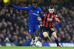 December 20, 2017 - London, England, United Kingdom - Chelsea Midfielder Tiemoue Bakayoko is harassed by Bournemouth's Lewis Cook during the Carabao Cup Quarter - Final match between Chelsea and AFC Bournemouth at Stamford Bridge, London, England on 20 Dec 2017. (Credit Image: © Kieran Galvin/NurPhoto via ZUMA Press)