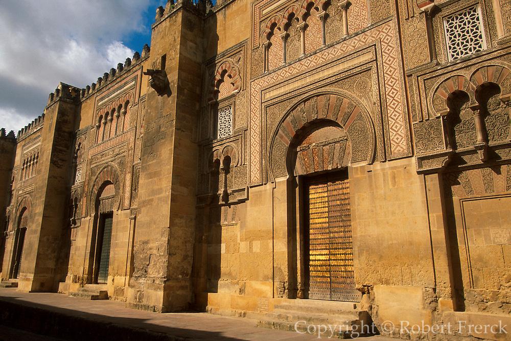 SPAIN, ANDALUSIA, CORDOBA 'La Mezquita' or Great Mosque door