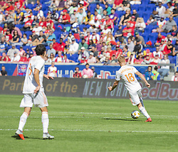 September 30, 2018 - Harrison, New Jersey, United States - Jeff Larentowicz (18) of Atlanta United FC controls ball during regular MLS game against Red Bulls at Red Bull Arena Red Bulls won 2 - 0  (Credit Image: © Lev Radin/Pacific Press via ZUMA Wire)