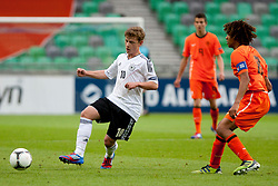 Maximilian Meyer of Germany and Nathan Ake of Netherlands during the UEFA European Under-17 Championship Final match between Germany and Netherlands on May 16, 2012 in SRC Stozice, Ljubljana, Slovenia. (Photo by Urban Urbanc / Sportida.com)