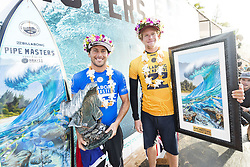 December 18, 2017 - Oahu, Hawaii, U.S. - Jeremy Flores of France is the WINNER of the 2017 Billabong Pipe Masters after defeating newly crowned 2X World Champion John John Florence of Hawaii in the final at Pipe, Hawaii, USA...Billabong Pipe Masters 2017, Hawaii, USA - 18 Dec 2017 (Credit Image: © WSL via ZUMA Wire/ZUMAPRESS.com)